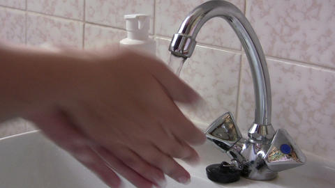 Washing Hands stock footage