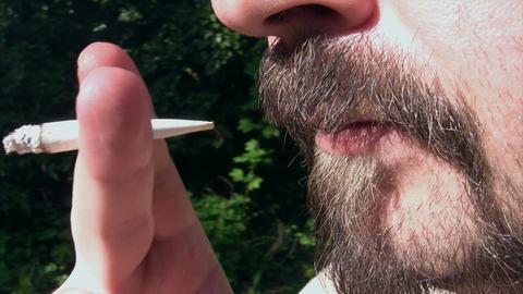 Smoking in the Garden Footage