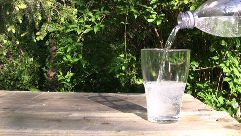 Glass of Fresh Water Footage