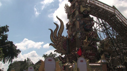 Balinese Hindu royal cremation ceremony (Ngaben) i Footage