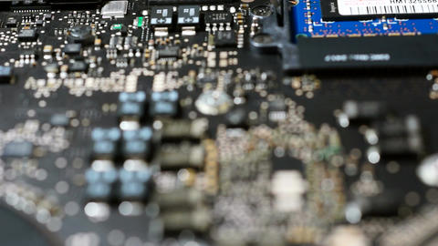 Computer Motherboard - Selective Focus stock footage