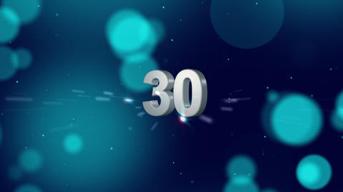 Cosmic Countdown stock footage