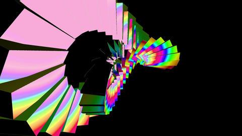 Moving Box Loopable Rainbow HD stock footage