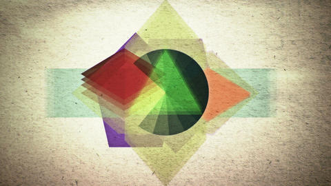 Multicolored shapes pulsating and shifting Animation