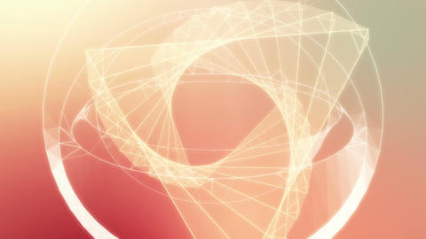 Twisting triangle and sphere 3D wireframe loop Animation