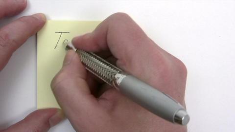 Writing a To Do List Footage