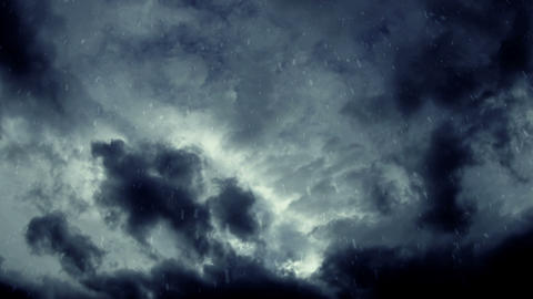 Snowstorm Clouds stock footage