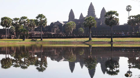 Angkor Wat In Cambodia Footage