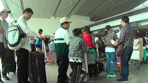 Airport Check-In. Saigon, Vietnam stock footage