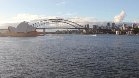 The Sydney Opera House, viewed from Circular Quay  Footage