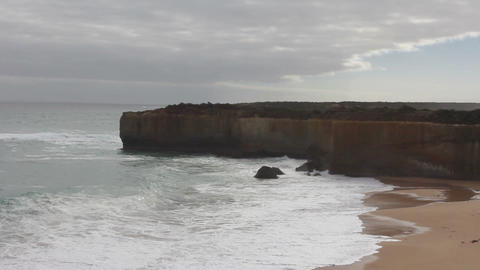 View from the Great Ocean Road. Australia Footage