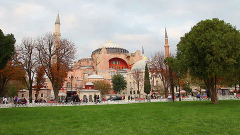 Hagia Sofia Museum In Istanbul Turkey stock footage