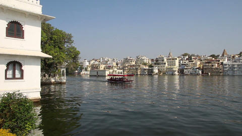 Pichola lake in Udaipur India Footage