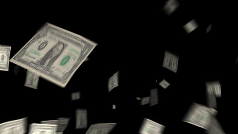 Dollar Bills Transitions 01 stock footage