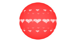 Rotating Hearts stock footage