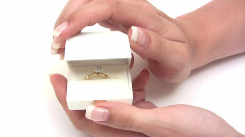 Presenting Her Engagement Ring stock footage