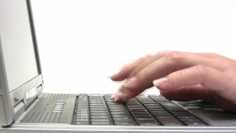 Typing on a Laptop Footage