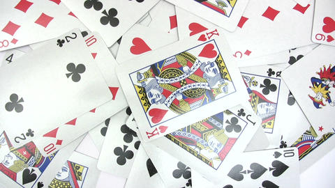 Playing Cards - Time Lapse stock footage