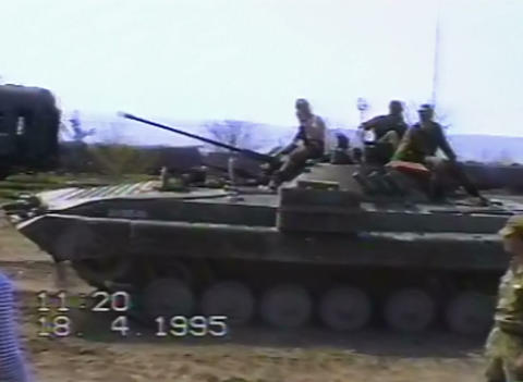 Russian armored personnel carriers on the war in C Live Action