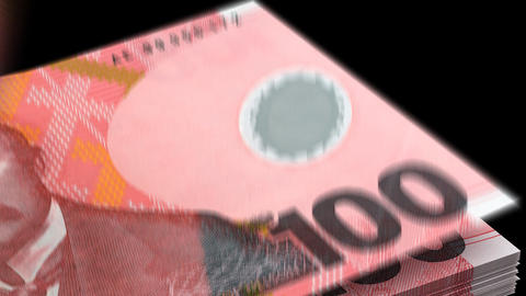 Counting New Zealand Dollar Animation
