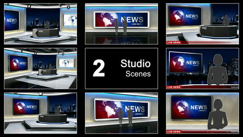 News studio 99 After Effectsテンプレート