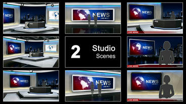 News Studio 99 stock footage
