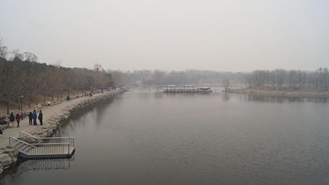 China Beijing Park Yuanmingyuan 10 Footage