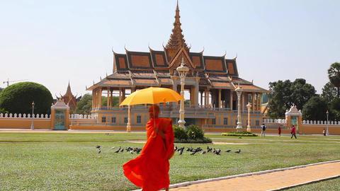Buddhist monk in Phnom Penh Footage