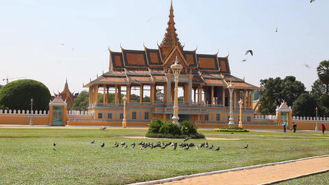 Royal Palace in Phnom Penh. Cambodia Footage