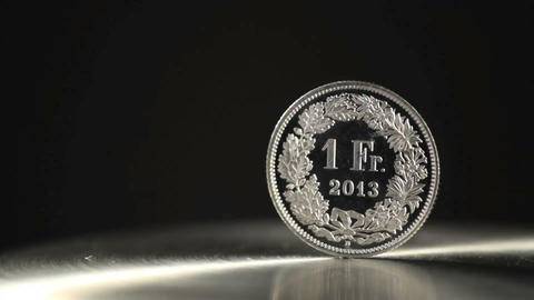 1 swiss franc Footage
