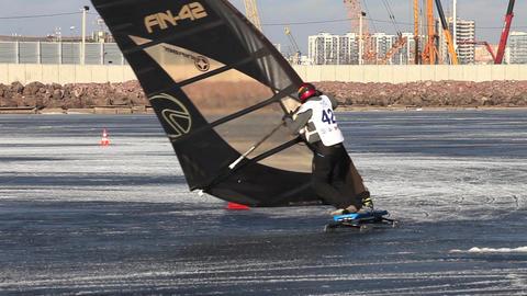 winter windsurfing Slalom Footage