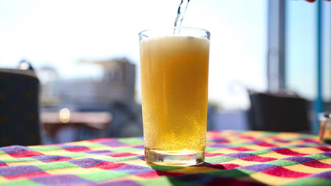 Glass Of Beeer stock footage