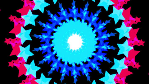 Loopable Circularly Star HD stock footage