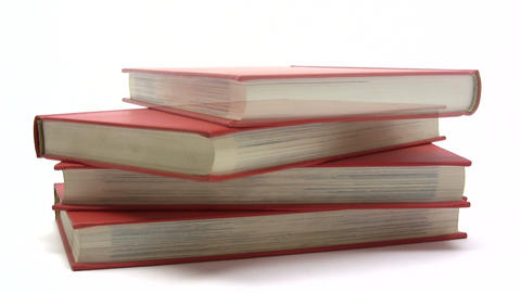 Stacking Red Books Footage