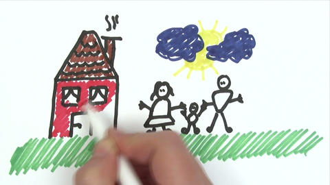 Happy Family - Time Lapse stock footage