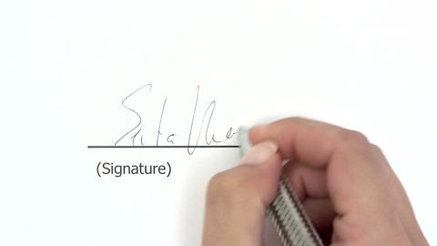 Signature stock footage