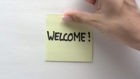 Welcome Note Footage