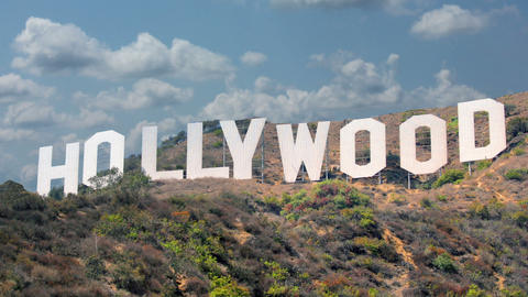 Hollywood Sign 2 stock footage