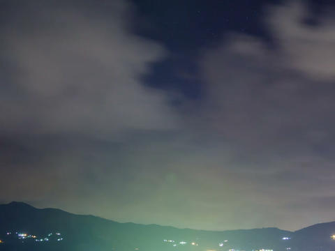 Rainy Clouds Over The City. Time Lapse. 640x480 stock footage