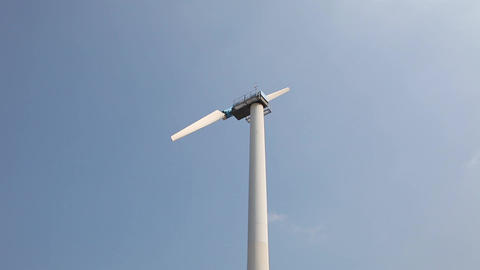 Windmill On Blue Sky stock footage