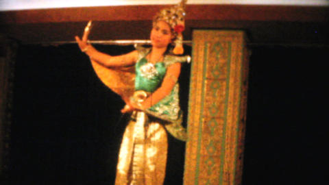 Thai Dancer Performs Traditional Dance 1958 Footage