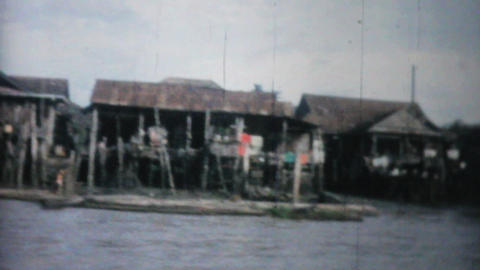 Travelling Down River In Bangkok 1958 Vintage 8mm Footage
