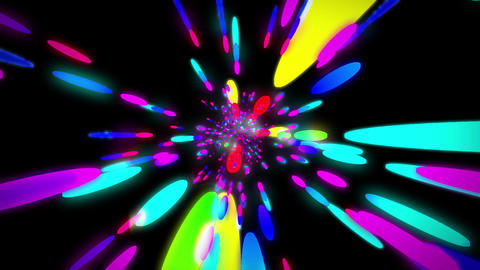 colorful neon ball HD Stock Video Footage