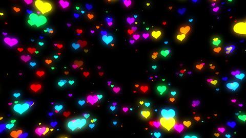 Sparkle Heart Particles B LA 1 HD CG動画