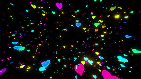 Sparkle Heart Particles B LB 1 HD Animation