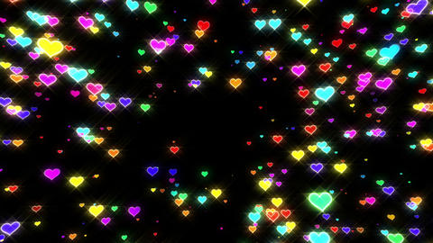 Sparkle Heart Particles B MA 1 HD Animation