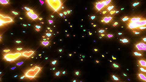 Sparkle Heart Particles B MB 1 HD Stock Video Footage