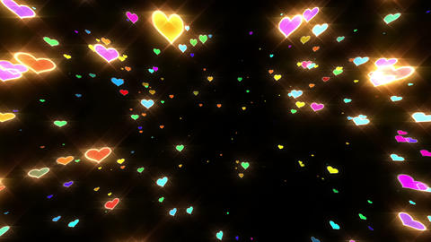 Sparkle Heart Particles B MB 1 HD Animation