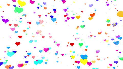 Sparkle Heart Particles W LA 1 HD CG動画