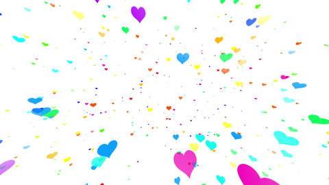Sparkle Heart Particles W LB 1 HD CG動画